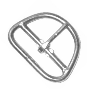 "3"" Center Bar Girth Buckle (Nickle Plate) - B10990NP"