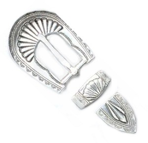 "3/4"" Silver Plated Buckle Set - B7238612SP"