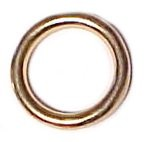 "3/4"" Solid Bronze O Ring, 7 gauge  (4.5 mm) - H535012BZ"