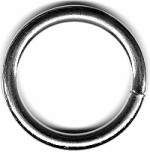 "2"" Stainless Steel O Ring, 3 gauge (6.2 mm) - H535032SS"