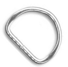 "1/2"" Nickel Plate Steel Wire Split Dee Ring - H5638NP"