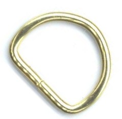 "1"" Brass Plate Steel Wire Split Dee Ring - H56316BP"