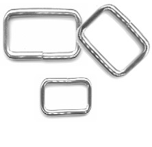 "1/2"" x 1"" Steel Wire Loop, Nickel Plated 3 mm - H4950816NP"