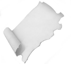 4 - 6oz White Alum Tanned Leather Sides - Z310AL