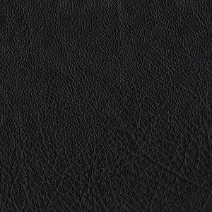 Solace Black Whole Hide Upholstery Leather