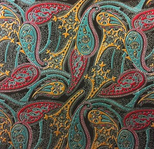 Paisley Embossed Leather in Chocolate